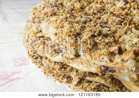 Layered Big Holiday Cake