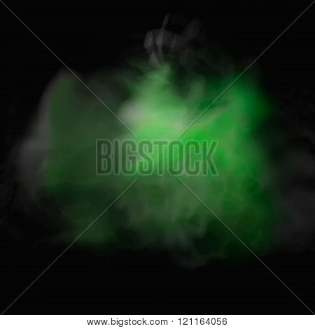 Vector abstract cloud.