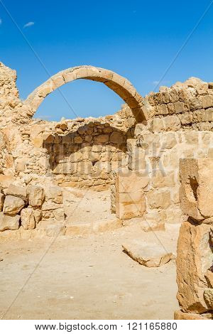Ruins Of The Ancient Nabataean Town Shivta
