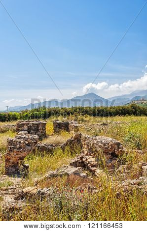 Roman Villa Ruins On Crete