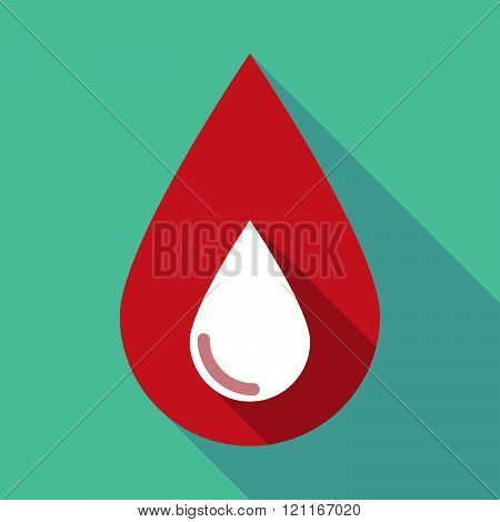 Long Shadow Blood Drop With A Blood Drop