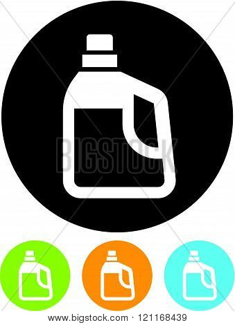 Jerrycan - Vector icon isolated on white.