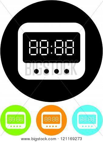 Digital clock Vector icon isolated