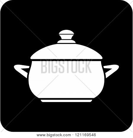 Dishware. Pan - Vector icon isolated on white