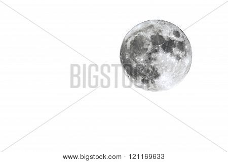 Full Moon Isolated On White