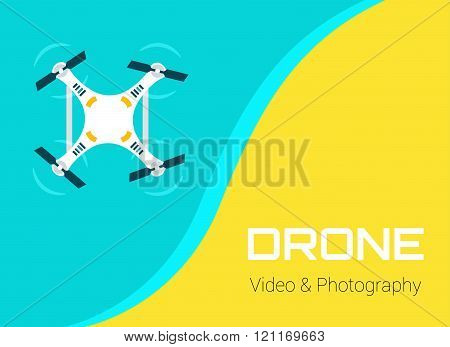 Vector Flat Drone