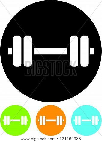 Sports gym equipment. Dumbbell - Vector icon isolated