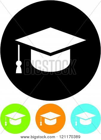 Graduate student hat - Vector icon isolated