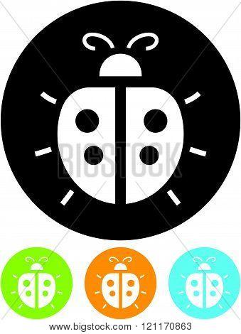 Ladybug - vector icon isolated on white