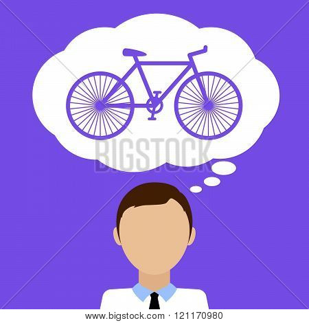 Man Dream About Bicycle.