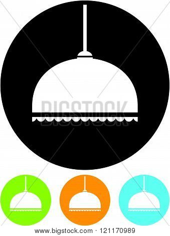 Pendant Lamp in Lampshade - Vector icon isolated
