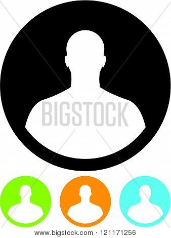 Man profile picture - vector icon isolated