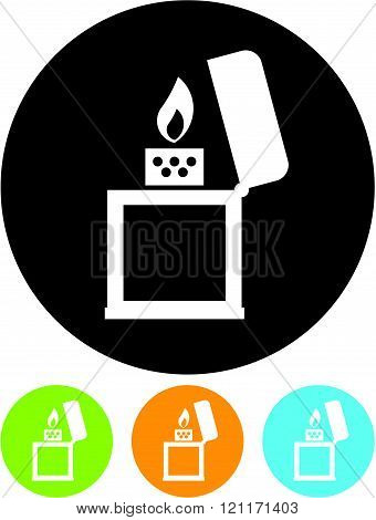Cigar Lighter - Vector icon isolated on white
