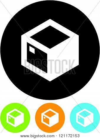 Parcel package box - Vector icon isolated.