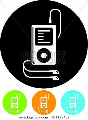 MP3 player device - Vector icon isolated.