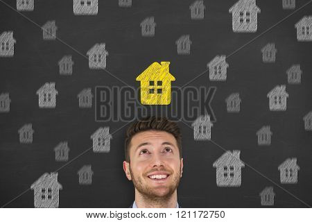 House over Human Head