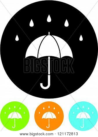 Rainy day - Umbrella Vector icon isolated.