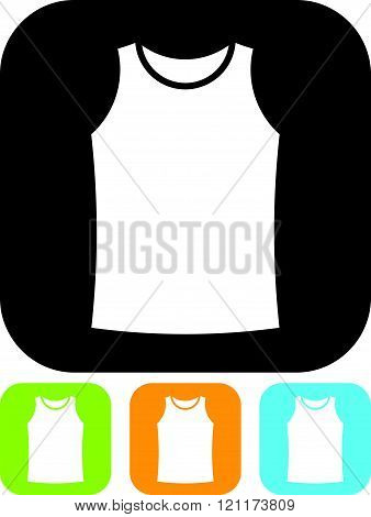Sleeveless shirt clothes - vector icon isolated