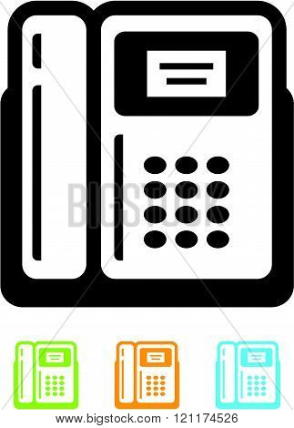 Retro telephone icon isolated (Vector)