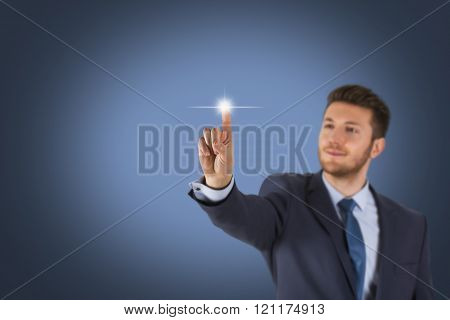 Businessman Touching Screen