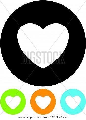 Valentine heart - Vector icon