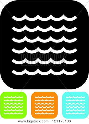 Water waves - Vector icon isolated
