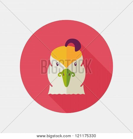 Quail Flat Icon. Animal Head Vector Symbol
