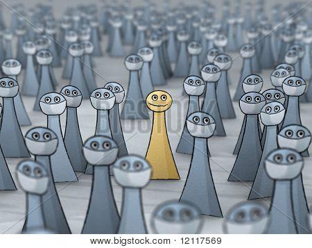 crowd at virus epidemic