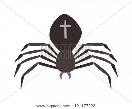 Spider illustration. Black Widow spider. spider over white background. Spider halloween design ison. Spider insect black illustration. Spider cartoon design.