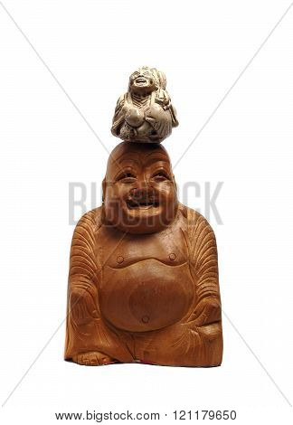 Buddha Statue On A White Background