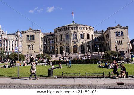 Walk through the city of Oslo, Norway