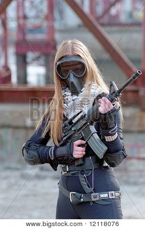 blond woman warrior