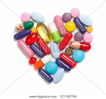 Heart Made Of Different Medicaments