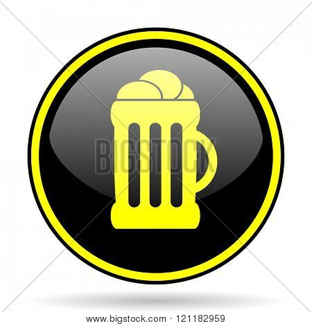 beer black and yellow modern glossy web icon