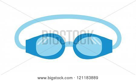 Pool goggles swimming equipment isolated vector illustration. Goggles. Swimming goggles flat icon. Goggles for swimming flat icon. Pool goggles swimming sport. Pool goggles swimming mask.