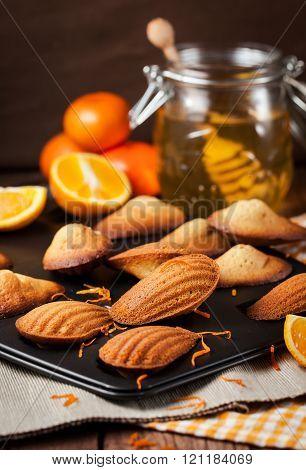 Orange And Honey Madeleines Cookies