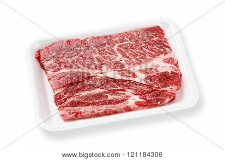 Beef Chuck Steak On Foam Tray