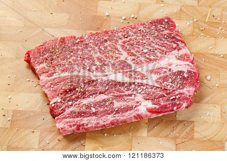 Beef Chuck Steak With Sea Salt And Pepper