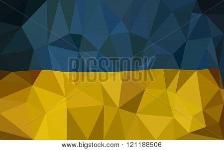 Ukrain hight low triangulate flag.