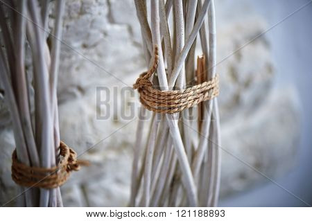 rods connected by a rope