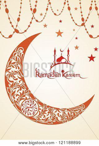 Ramadan Kareem beautiful greeting card. Ramadan Kareem illustration