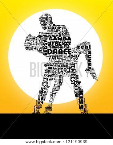 Dance Words Sun