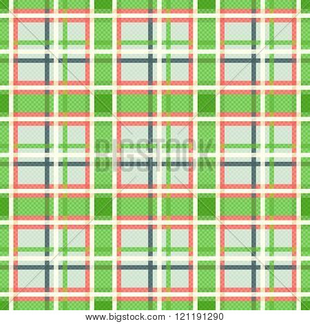 Seamless Checkered Pattern In Warm Hues