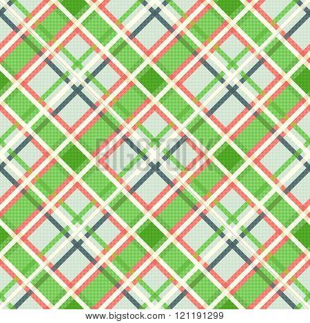 Seamless Diagonal Pattern In Pattern In Warm Hues