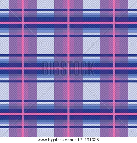 Seamless Checkered Pattern In Violet, Blue And Pink