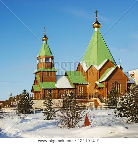 Polyarnye Zori, Russia, a new church