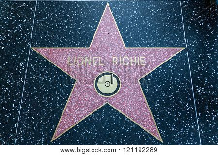 Lionel Richie Hollywood Star
