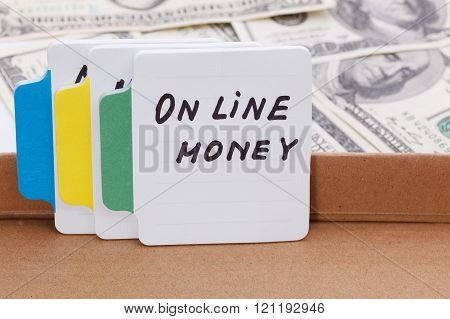 Text - Online Money. Business Concept.