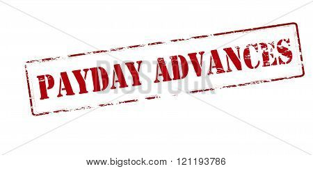 Rubber stamp with text payday advances inside vector illustration