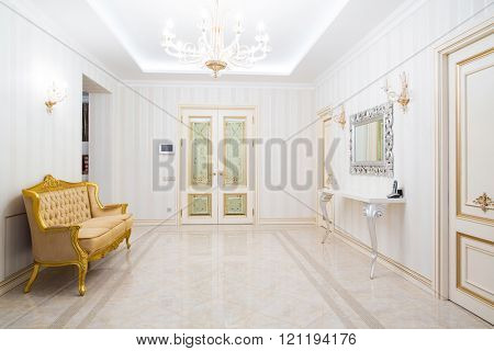 interior of hallway at house